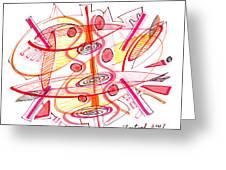 Modern Drawing Seventy-four Greeting Card