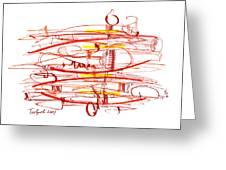 Modern Drawing Seventy Greeting Card