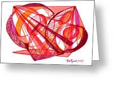 Modern Drawing Seventy-one Greeting Card