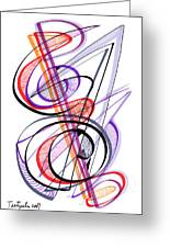 Modern Drawing Sixty-two Greeting Card