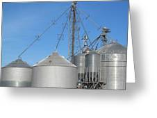 Modern Farm Storage And Towers Greeting Card