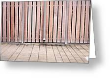 Modern Fence Greeting Card