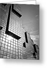 Modern Glass Building Greeting Card