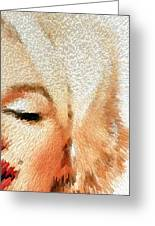 Modern Marilyn - Marilyn Monroe Art By Sharon Cummings Greeting Card