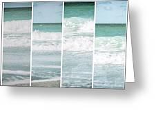 Modern Ocean Quad  Greeting Card