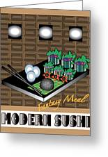 Modern Sushi Greeting Card by Colleen Cannon