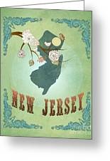 Modern Vintage New Jersey State Map  Greeting Card