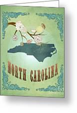 Modern Vintage North Carolina State Map  Greeting Card