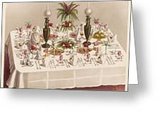 Modified Diner A La Russe, Set Greeting Card