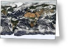 Modis World Map Greeting Card