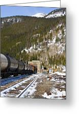 Moffat Tunnel East Portal At The Continental Divide In Colorado Greeting Card