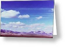 Mohave Desert Shadows Greeting Card
