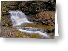 Mohican Falls In Spring Greeting Card