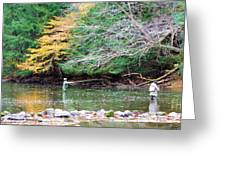 Mohican Fly Fishermen Greeting Card