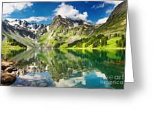 Mointain And Lake Greeting Card by Boon Mee