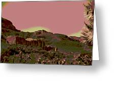 Mojave Desert In Mauve Greeting Card by Sharon McLain