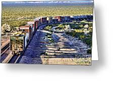 Mojave Desert Train By Diana Sainz Greeting Card