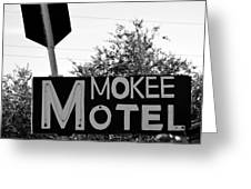 Mokee Motel Sign Circa 1950 Greeting Card
