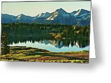 Molas Lake Sunrise Greeting Card