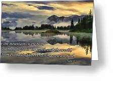 Molas Lake Sunrise With Scripture Greeting Card