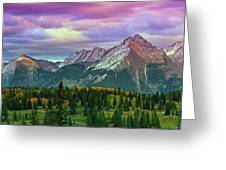 Molas Pass Sunset Panorama Greeting Card