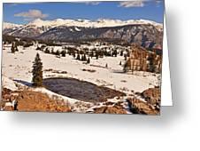 Molas Pass Winter Greeting Card