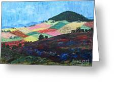 Mole Hill Patchwork - Sold Greeting Card