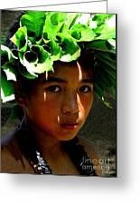Molokai Keiki Kane Greeting Card