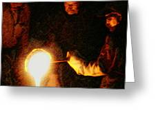 Molten Glass Greeting Card