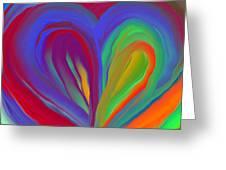 Molten Heart27 Greeting Card