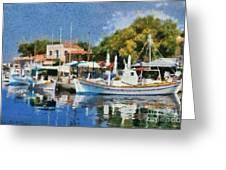 Molyvos Port Greeting Card
