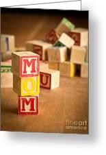 Mom Alphabet Blocks Greeting Card