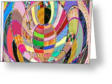 Mom Hugs Baby Crystal Stone Collage Layered In Small And Medium Sizes Variety Of Shades And Tones Fr Greeting Card
