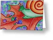 Mom Snail Greeting Card
