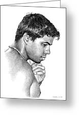 Moment With Marcus Greeting Card by Douglas Simonson