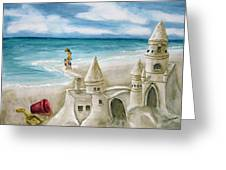 Mommy And Me Sandcastles Greeting Card