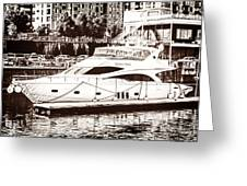 Momousse Yacht In Montreal Greeting Card