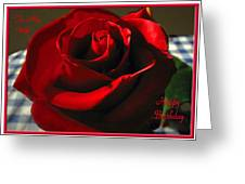 Mom's Red Rose Happy Birthday Wife Greeting Card