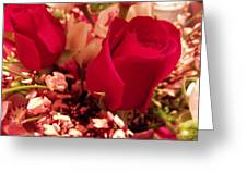 Moms Red Roses Greeting Card
