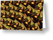 Mona Lisa Greeting Card by Moshfegh Rakhsha