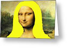 Mona Lisa Went To California Greeting Card