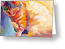 Mona Lisa's Rainbow Greeting Card by Kimberly Santini