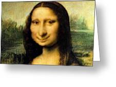 Mona Lisas Twin Sister Greeting Card