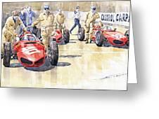 Monaco Gp 1961 Ferrari 156 Sharknose  Greeting Card