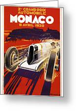 Monaco Grand Prix 1930 Greeting Card