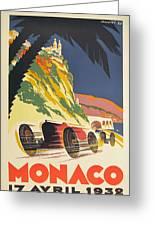 Monaco Grand Prix 1932 Greeting Card