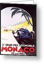 Monaco Grand Prix 1933 Greeting Card