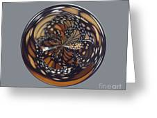 Monarch Butterfly Abstract Greeting Card
