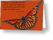 Monarch Butterfly Pismo Beach Greeting Card