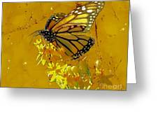 Monarch On Gold Greeting Card